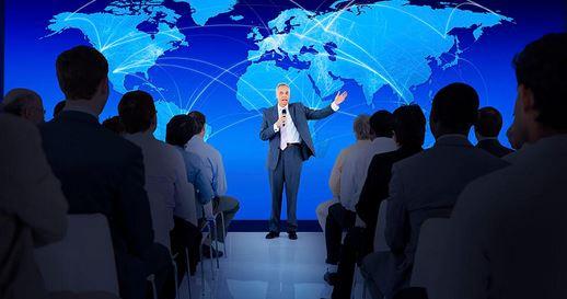Pelatihan presentasi Persuasif Pembicara yang percaya diri